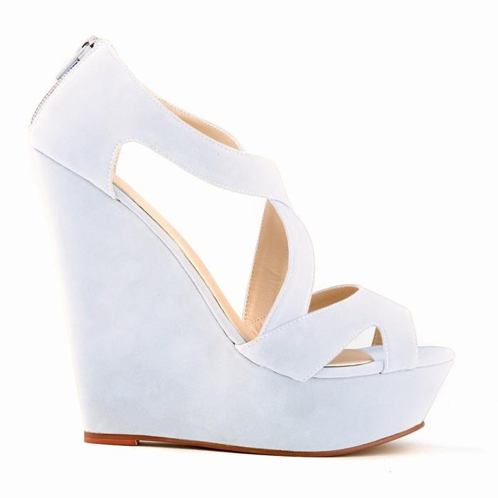 Super High-Heeled Wedge Cross Strap Sandals