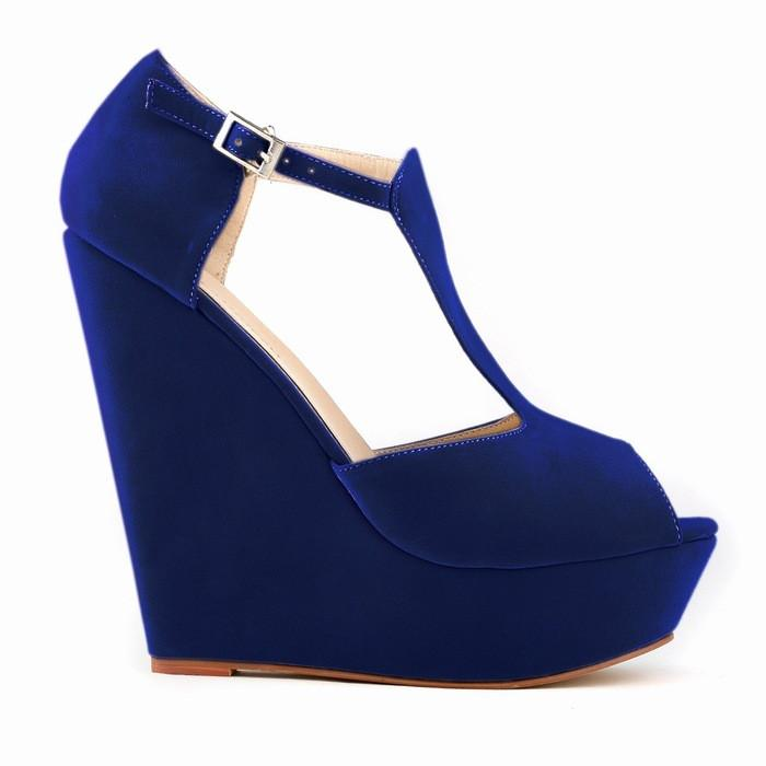 High-Heeled Wedge Roman Peep-Toe Sandals