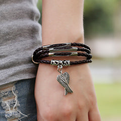 Angel's Wings Multilayer Woven Bracelet - Oh Yours Fashion - 3