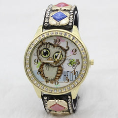 Cute Owl Square Gems Watch - Oh Yours Fashion - 4