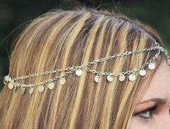 Sequins Waves Tassel Chain Hair Accessories - Oh Yours Fashion - 2