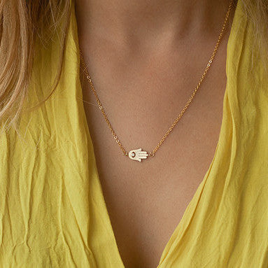 Simple Hand Shape Short Necklace - Oh Yours Fashion - 1