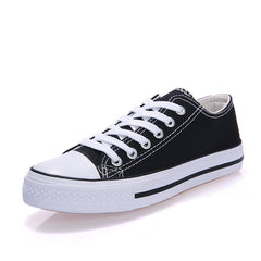 Classic Lace Up Couple Canvas Sneakers - Oh Yours Fashion - 6