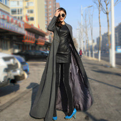 Beautiful High Neck Slim Super Long Coat - Oh Yours Fashion - 6