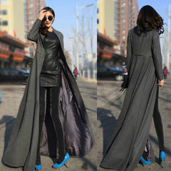 Beautiful High Neck Slim Super Long Coat - Oh Yours Fashion - 4