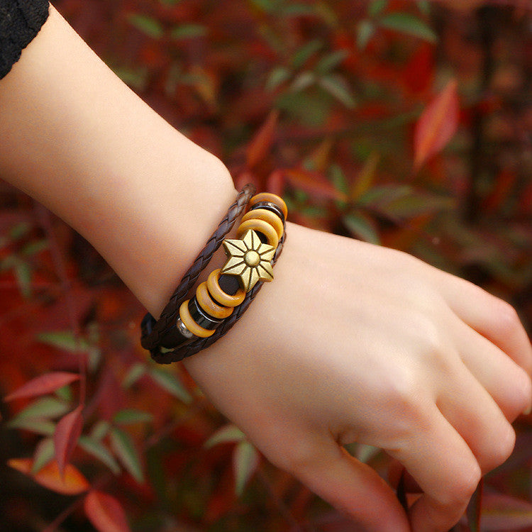 Fashion Beaded Woven Leather Bracelet - Oh Yours Fashion - 2