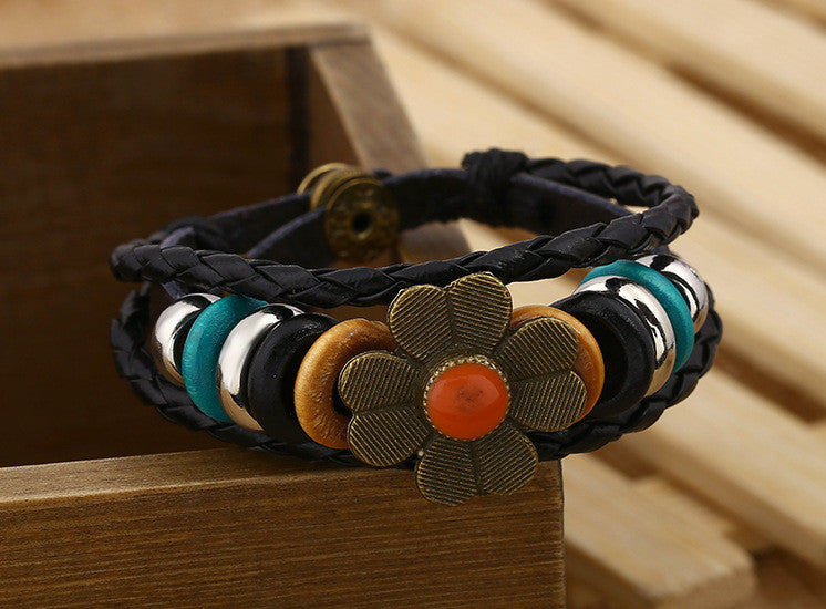 Sweet Little Flower Woven Beaded Bracelet - Oh Yours Fashion - 8