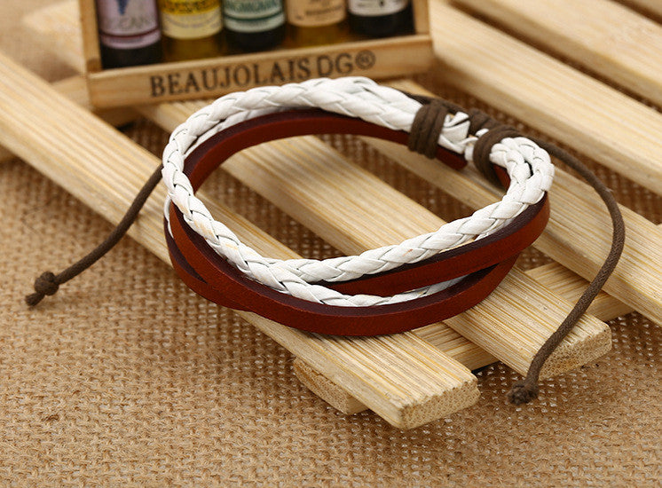 Color Vintage Woven Leather Bracelet - Oh Yours Fashion - 8