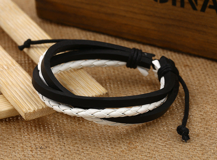 Color Vintage Woven Leather Bracelet - Oh Yours Fashion - 6