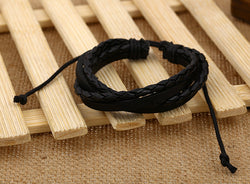 Color Vintage Woven Leather Bracelet - Oh Yours Fashion - 2