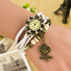 Retro Style Rose Pendant Multilayer Watch - Oh Yours Fashion - 1