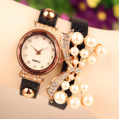 Beautiful Crystal 16 Pearl Watch - Oh Yours Fashion - 3