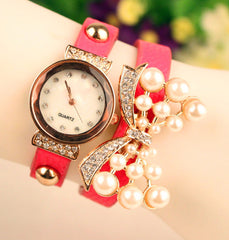 Beautiful Crystal 16 Pearl Watch - Oh Yours Fashion - 2