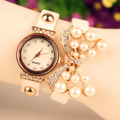Beautiful Crystal 16 Pearl Watch - Oh Yours Fashion - 1