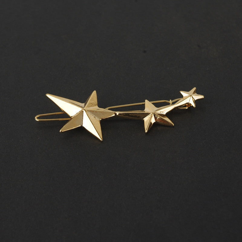 Fashion Three Gold Stars Hairpin - Oh Yours Fashion - 2