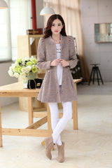 Removable Fur Collar Long Woolen Coat - Oh Yours Fashion - 3