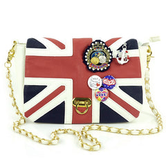 UK Flag Badge Handbag Shoulder Bag - Oh Yours Fashion - 4