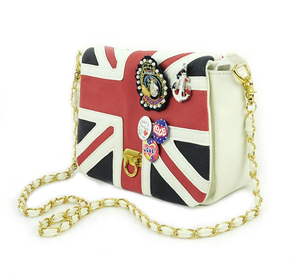 UK Flag Badge Handbag Shoulder Bag - Oh Yours Fashion - 1