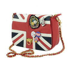 UK Flag Badge Handbag Shoulder Bag - Oh Yours Fashion - 2