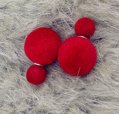 Korea Style Velvet Ball Fashion Earring - Oh Yours Fashion - 8