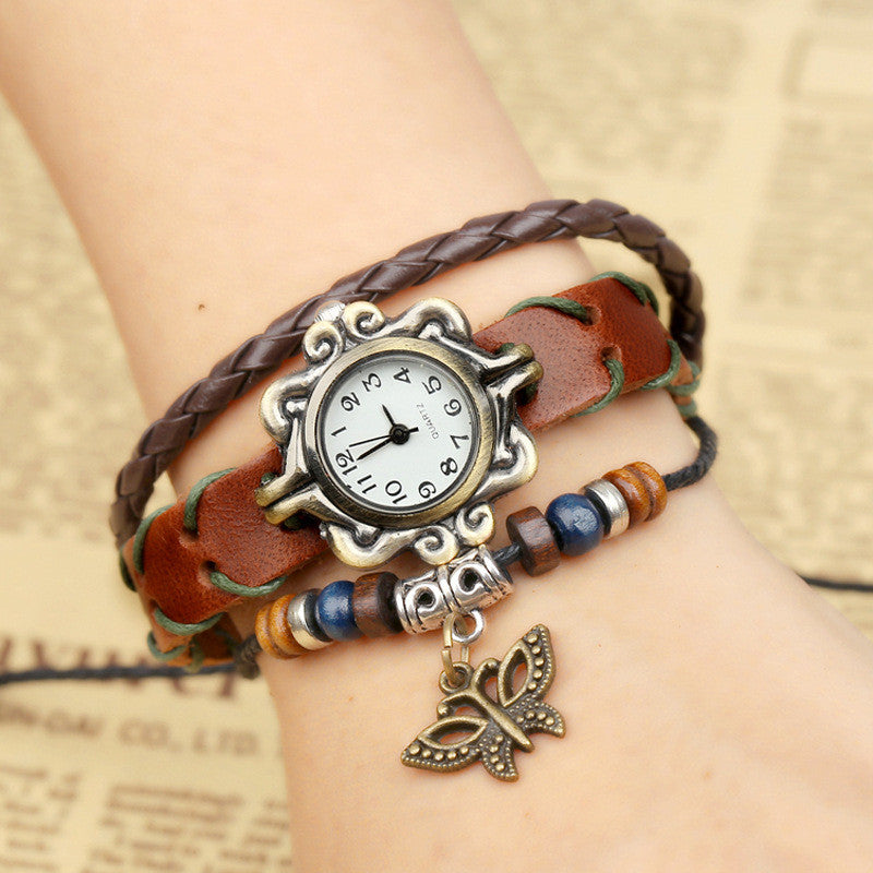 Butterfly Handmade Woven Bracelet Watch - Oh Yours Fashion - 1