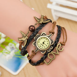 Dove Multilayer Woven Bracelet Watch - Oh Yours Fashion