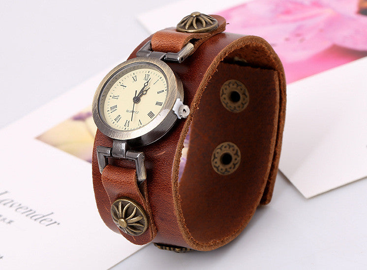 Simple Fashion Handmade Leather Watch - Oh Yours Fashion - 3