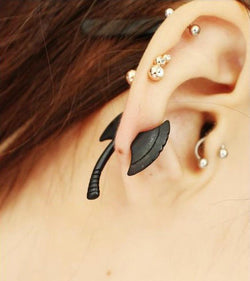 Exaggerated 3D Axe Punk Style Single Earrings - Oh Yours Fashion