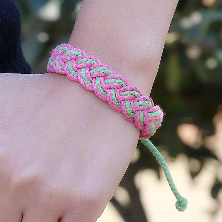 Fashion Color Woven Braided Bracelet - Oh Yours Fashion - 3