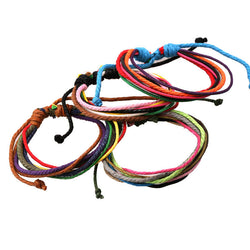 Hemp Wax String Woven Colorful Bracelet - Oh Yours Fashion - 1