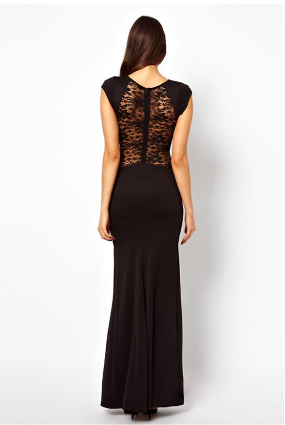 Maxi Lace Back Side Split Long Party Dress - MeetYoursFashion - 6