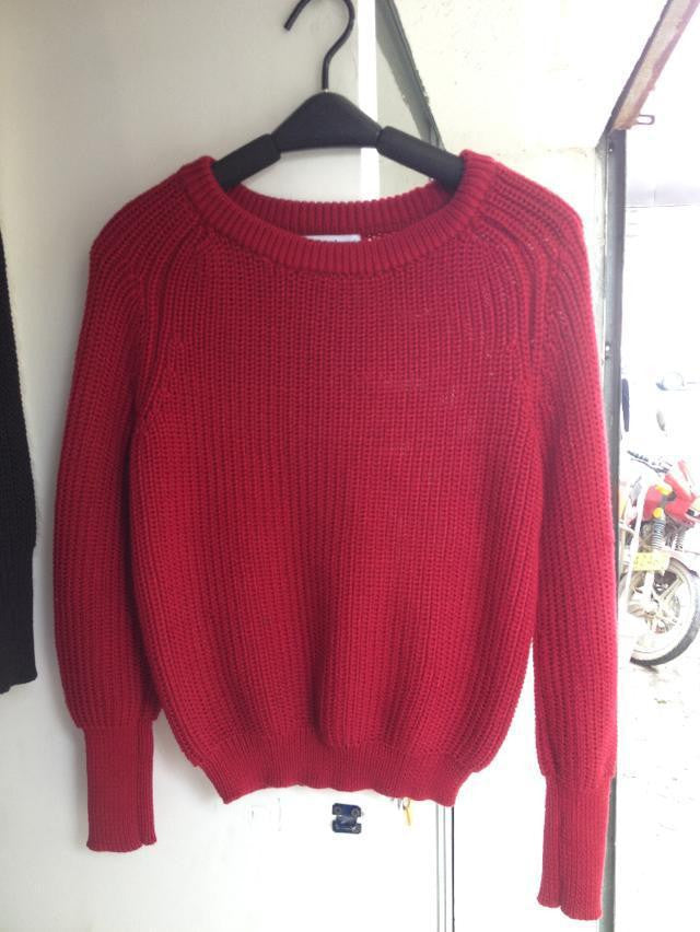 Pullover Loose Scoop Retro Bold Lines Sweater - Oh Yours Fashion - 6