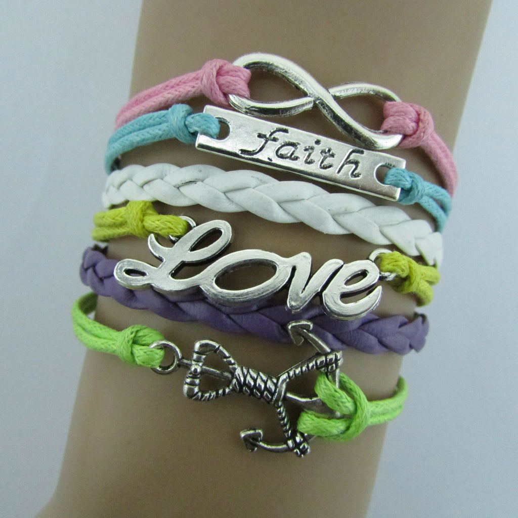 Multilayer Composite Woven Wax Rope Bracelet - Oh Yours Fashion - 1