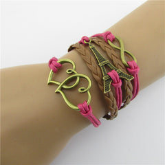 Eiffel Tower Heart Multilayer Woven Bracelet - Oh Yours Fashion - 2
