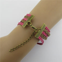 Eiffel Tower Heart Multilayer Woven Bracelet - Oh Yours Fashion - 6
