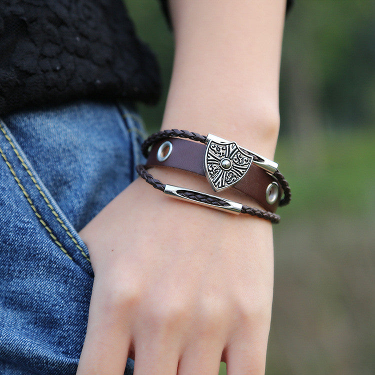 Shield Woven Multilayer Bracelet - Oh Yours Fashion - 2