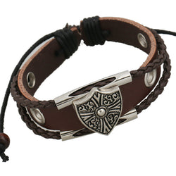 Shield Woven Multilayer Bracelet - Oh Yours Fashion - 1