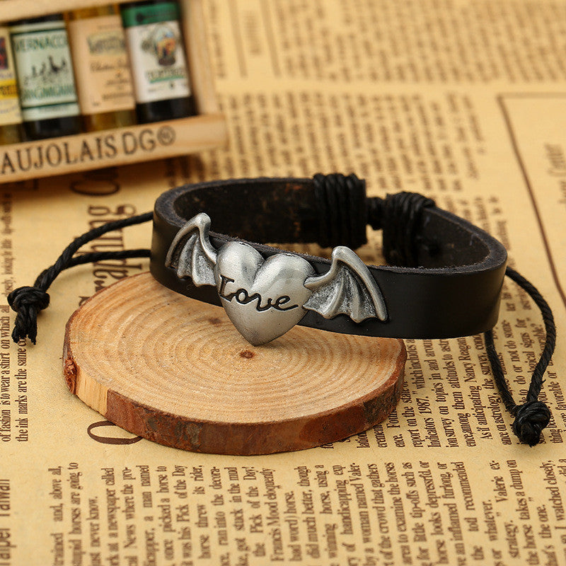 Personality Cross Decorate Leather Bracelet - Oh Yours Fashion - 4