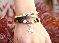 Fashion Temperament Joker Crown Leather Bracelet - Oh Yours Fashion - 2