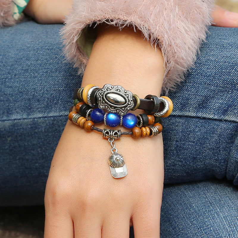 Hat Leather Beaded Bracelet - Oh Yours Fashion - 2