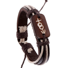 Carving Bone Woven Leather Bracelet - Oh Yours Fashion - 1