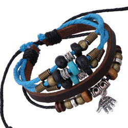 Hand Pendant Multilayer Leather Bracelet - Oh Yours Fashion - 1