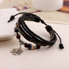 Snowflake Woven Multilayer Bracelet - Oh Yours Fashion - 2