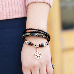Snowflake Woven Multilayer Bracelet - Oh Yours Fashion - 3