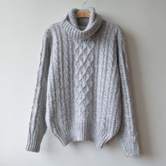 High Neck Pullover Loose Solid Color Knit Sweater - Oh Yours Fashion - 8