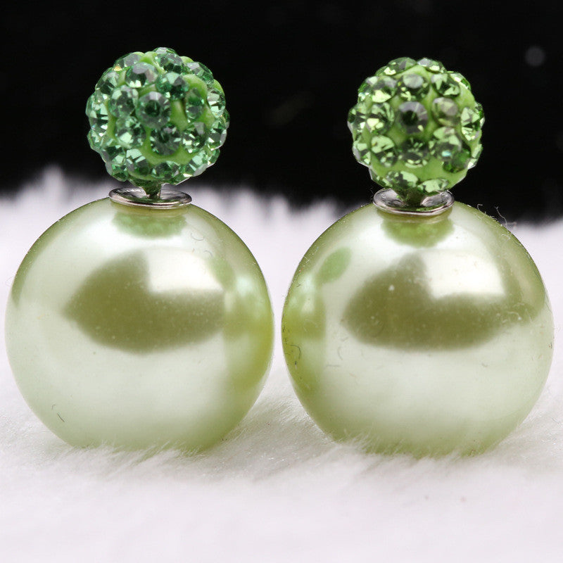 Charming Crystal Ball Pearl Earring - Oh Yours Fashion - 31