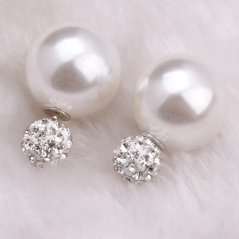 Charming Crystal Ball Pearl Earring - Oh Yours Fashion - 28