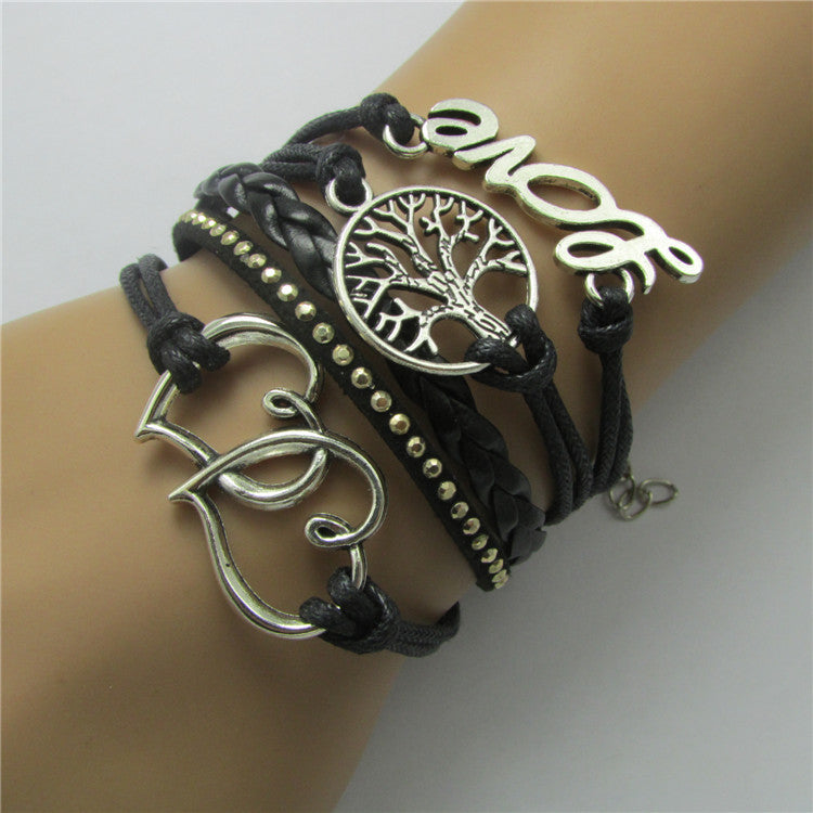 Personality Love Tree Woven Bracelet - Oh Yours Fashion - 1