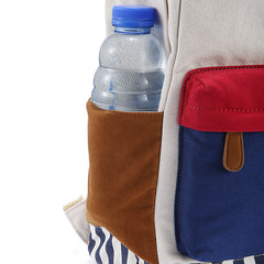 Contrast Color Women's Casual Canvas Backpack Bag - Oh Yours Fashion - 5