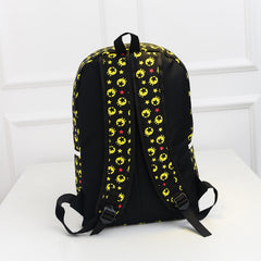 French Mustache and Stars Print Cute Canvas Backpack School Bag - Oh Yours Fashion - 5